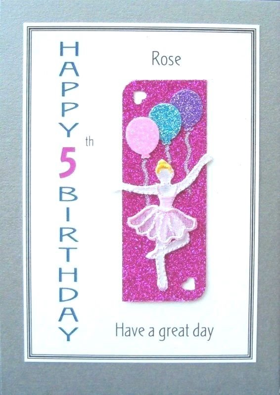 Personalised Birthday Card - Ballet Dancer