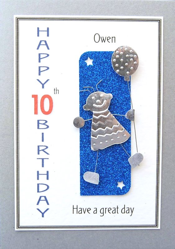 Personalised Birthday Card - Boy & Balloon