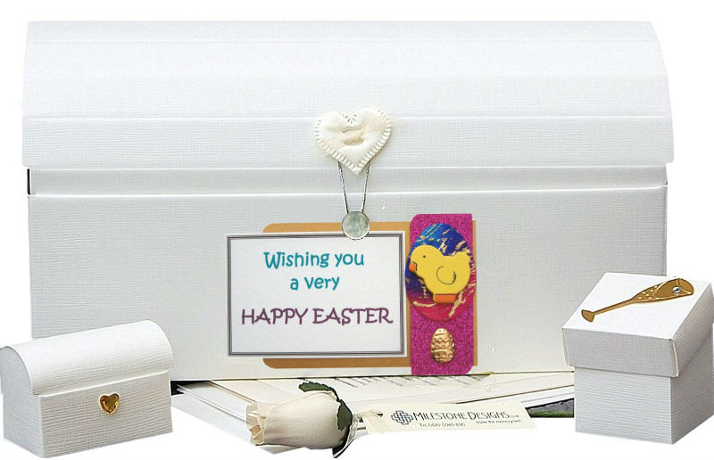 Personalised Easter Chick Memory Chest