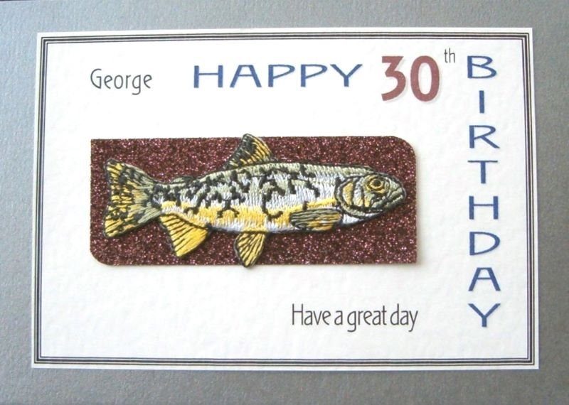Personalised Birthday Card - Fishing Trophy