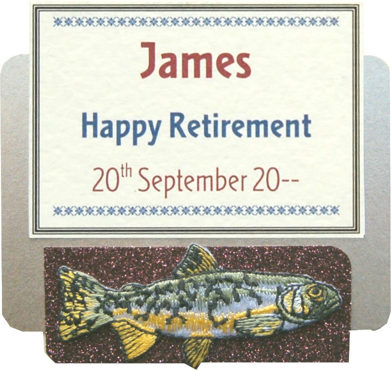 Retirement Fishing Throphy Motif