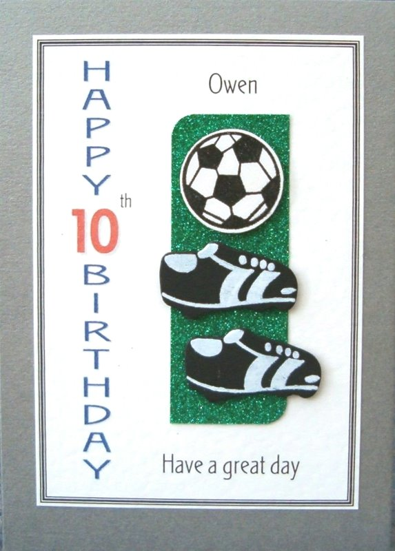 Personalised Birthday Card - Football Mad