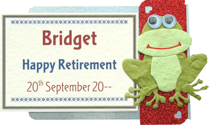 Retirement Google Eyed Frog Motif