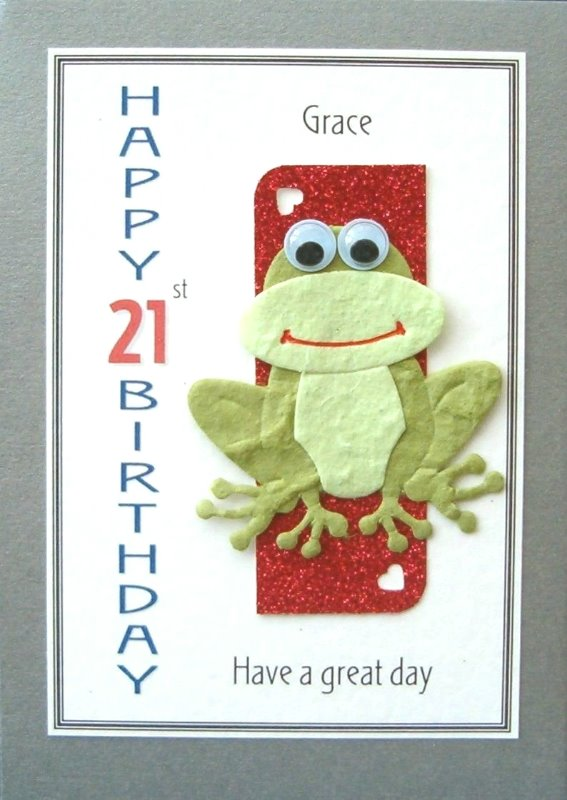 Personalised Birthday Card - Goggle Eyed Frog