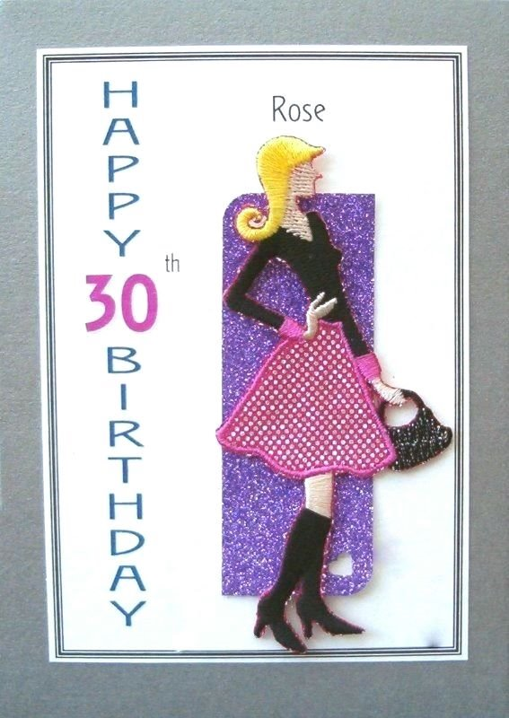 Personalised Birthday Card - Girl with a Handbag