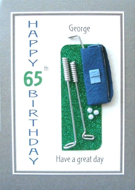 Personalised Birthday Card - Golfing Mad