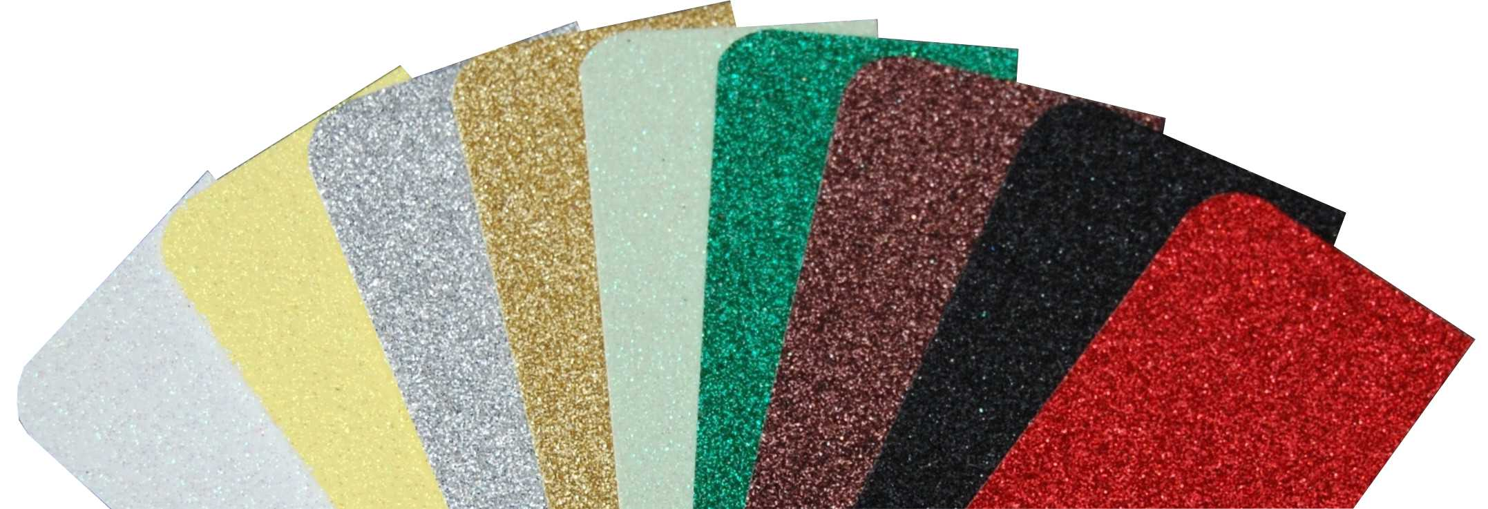 Glitter colour options