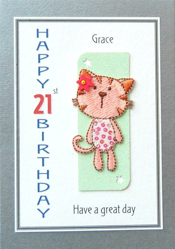 Personalised Birthday Card - Kitten