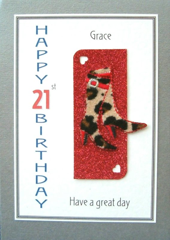 Personalised Birthday Card - Leopard Skin Boots