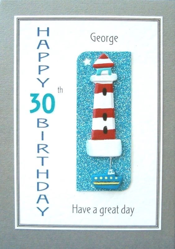 Personalised Birthday Card - Lighthouse