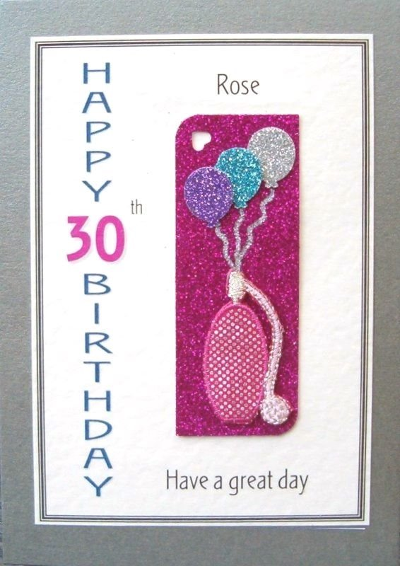 Personalised Birthday Card - Perfume & Balloons