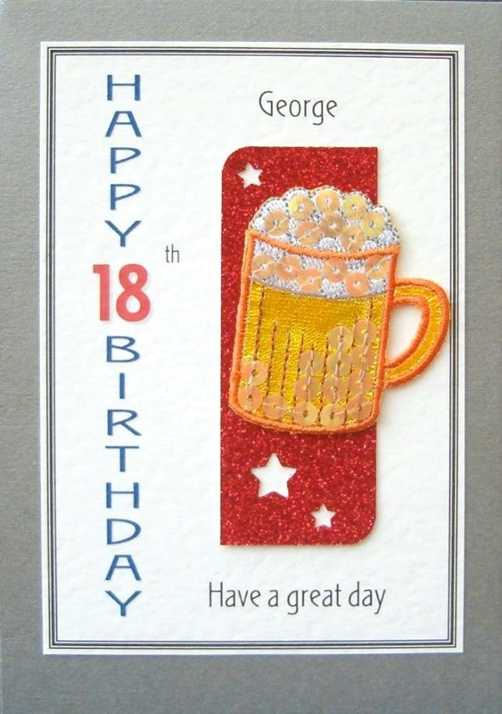 Personalised Birthday Card - Pint Pot