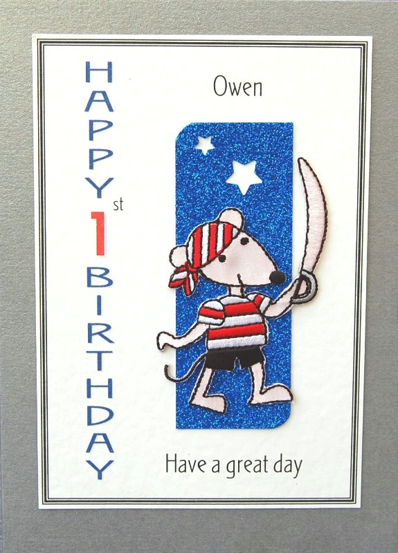 Personalised Birthday Card - Pirate Mouse