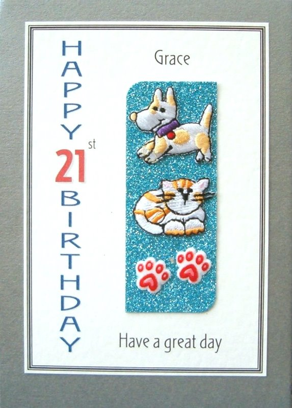 Personalised Birthday Card - Kitten & Puppy