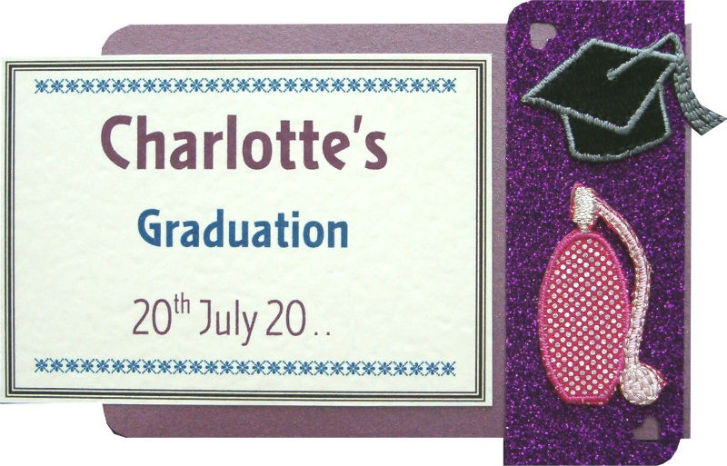 Purfume Bottle and Graduation Motarboard Motif