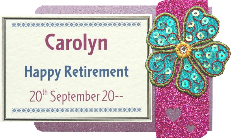 Retirement Sequin Flower Motif