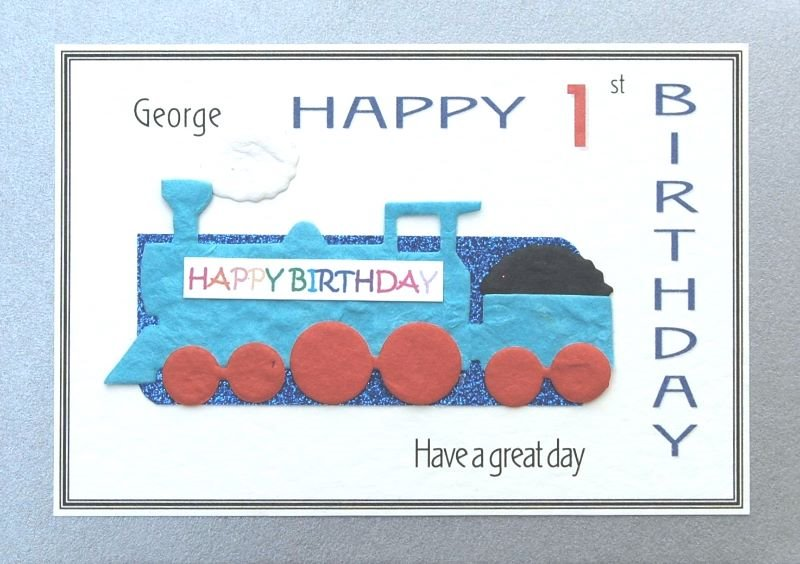 Personalised Birthday Card - Steam Train