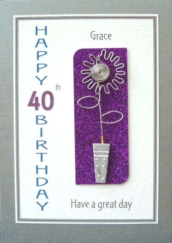 Personalised Birthday Card - Sunflower