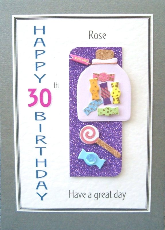 Personalised Birthday Card - Sweetie Jar