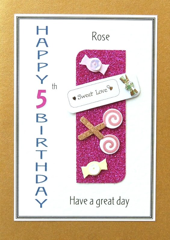 Personalised Birthday Card - Sweeties