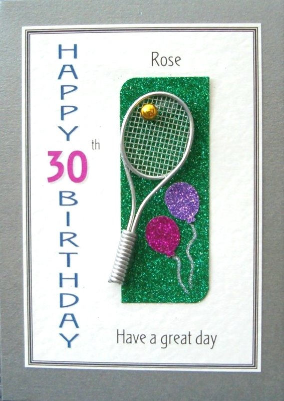 Personalised Birthday Card - Tennis