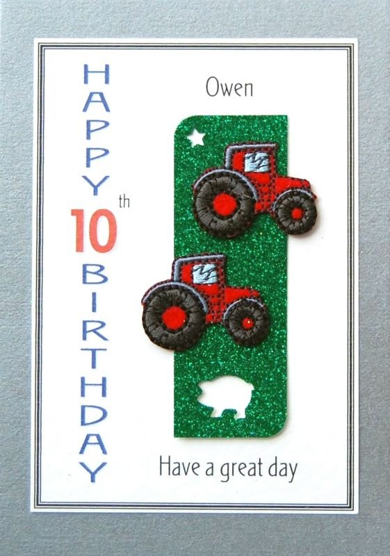 Personalised Birthday Card - Tractors