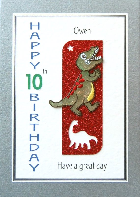Personalised Birthday Card - T- Rex