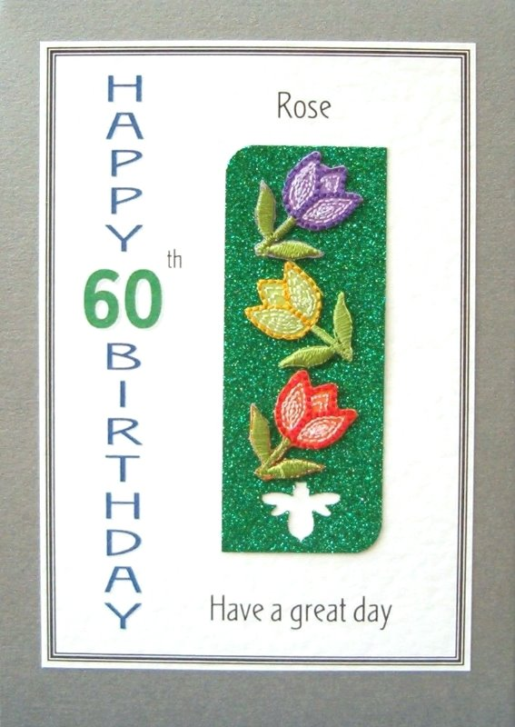 Personalised Birthday Card - Three Tulips