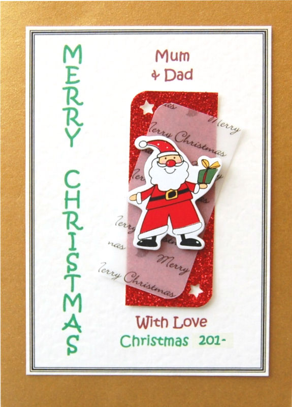 Personalised Christmas Card - Father Christmas