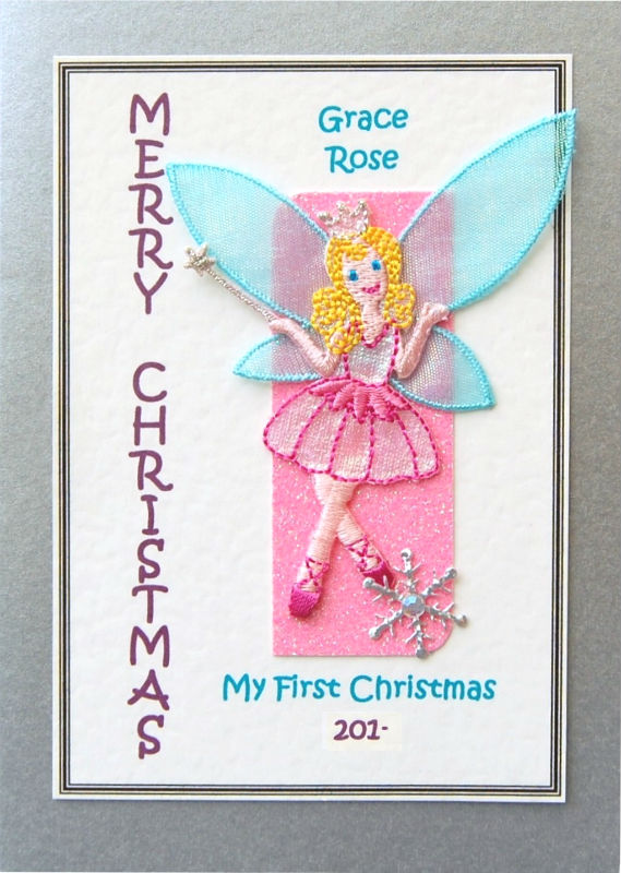 Personalised Christmas Card - Fairy