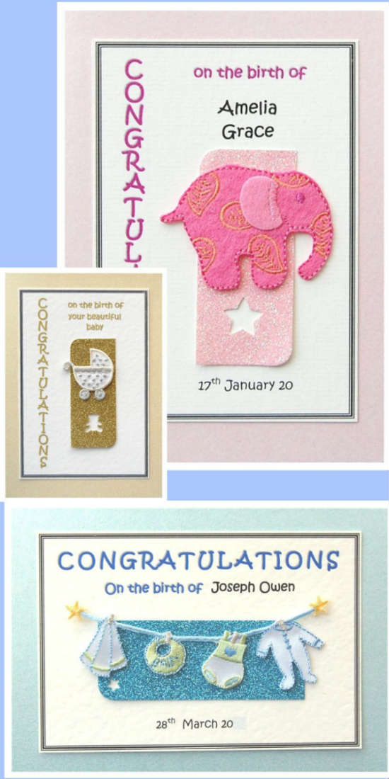 Handmade New Baby Greetings Cards