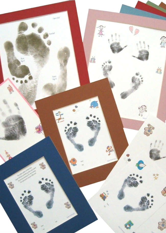 Baby Inkless Footprint and Handprint Kits & Mounts