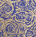 Royal Blue Roses Handmade Silk Mulberry Paper