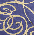 Royal Blue Swirling Hearts Handmade Silk Mulberry Paper