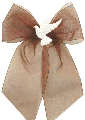 In Loving Memory Bow with Dove Motif