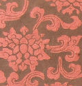 Coffee/Copper Damask Handmade Cotton Paper