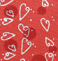 Cherry Silver Hearts with Flock Circles Handmade Cotton Paper